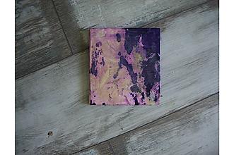 Papiernictvo - zápisník fialovožltý - 9752045_