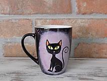 Nádoby - Čierny hrnček - Black Cat - 9751799_