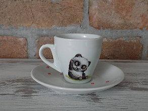 Nádoby - Ristretto šálka Panda 2 - 9751110_
