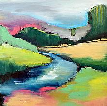 Obrazy - Zelená pri rieke - 9752153_