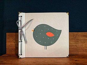 Papiernictvo - Fotoalbum klasický, polyetylénový obal s potlačou ,,Tučniačik = tučný vtáčik,, - 9750924_