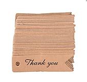 Papier - VI104 Visačka THANK YOU 7 cm (Béžová) - 9751384_