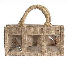 Obalový materiál - Darčeková jutová taška na 3 medy - 9753456_