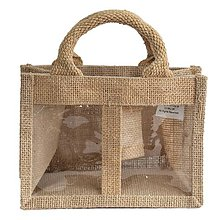 Obalový materiál - Darčeková jutová taška na 2 medy - 9753467_