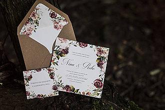 Papiernictvo - Svadobný set - Tmavý kvet - 9751069_