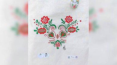 Iné tašky - ♥ Plátená, ručne maľovaná taška ♥  (R4) - 9753055_
