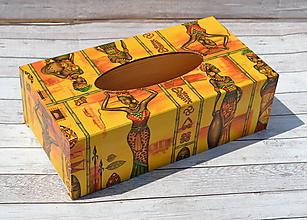 Krabičky - Africký box na vreckovky - 9752363_