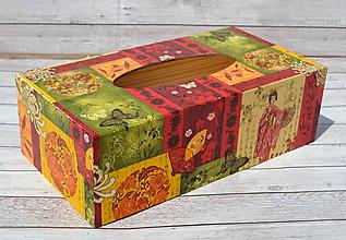 Krabičky - Orient box na vreckovky - 9752376_