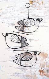 Dekorácie - Ptačí závěs - 9751277_