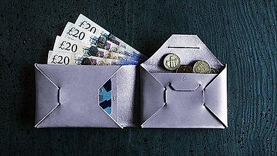 Peňaženky - Peněženka XY Origami Stone - 9752028_