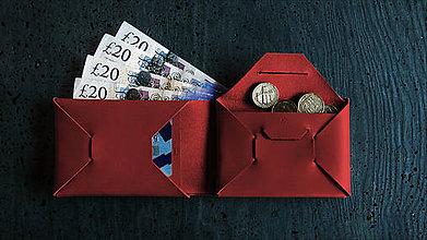 Peňaženky - Peněženka XY Origami Wine - 9752050_