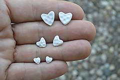 Náušnice - Pocelánové náušnice Si v mojom srdci - 9751225_