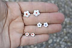Náušnice - Porcelánové náušničky Kvet pre teba - 9751312_