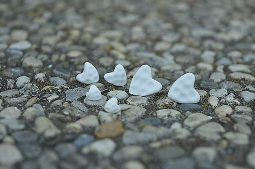 Pocelánové náušnice Si v mojom srdci
