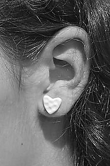 Náušnice - Pocelánové náušnice Si v mojom srdci (12mm) - 9751238_