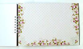 Papiernictvo - Svadobný album,jemný album na fotky,svadobná kniha hostí A4 - 9751262_