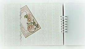 Papiernictvo - Svadobný album,jemný album na fotky,svadobná kniha hostí A4 - 9751263_