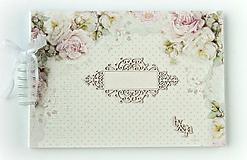 Papiernictvo - Svadobný album,jemný album na fotky,svadobná kniha hostí A4 - 9751269_