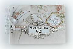 Papiernictvo - Púdrová elegancia-svadobná kniha hostí jemná/kniha prianí - 9752682_