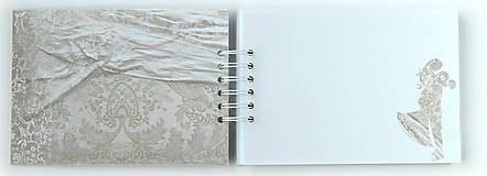 Papiernictvo - Púdrová elegancia-svadobná kniha hostí jemná/kniha prianí - 9752683_