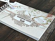 Papiernictvo - Púdrová elegancia-svadobná kniha hostí jemná/kniha prianí - 9752686_