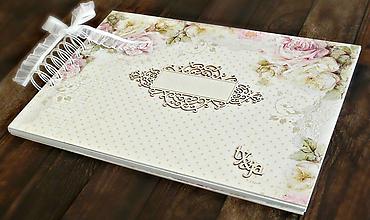 Papiernictvo - Svadobný album,jemný album na fotky,svadobná kniha hostí A4 - 9751267_