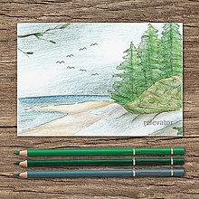Kresby - Na pobreží (húština ihličnanov) - 9751290_