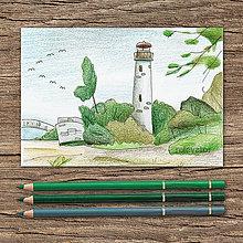 Kresby - Na pobreží (maják) - 9751293_