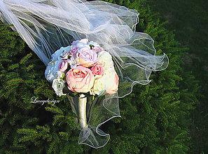 Kytice pre nevestu - svadobná kytica ...ružová pivonka - 9751063_