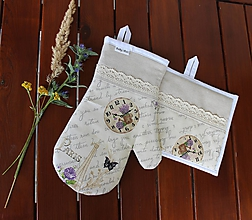 Úžitkový textil - set rukavica+chňapka Paris dream - 9753777_
