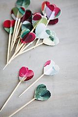 Dekorácie - Candy bar - napichovátka (zápich) - akvarel - 9757005_