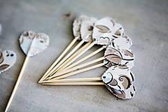 Dekorácie - Candy bar - napichovátka (zápich) - s kvetmi - 9757028_