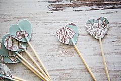 Dekorácie - Candy bar - napichovátka (zápich) - kvety - 9757042_