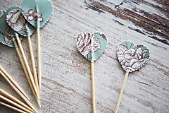 Dekorácie - Candy bar - napichovátka (zápich) - kvety - 9757043_
