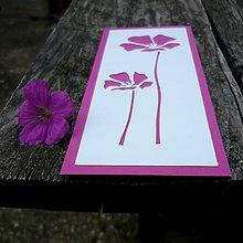 Papiernictvo - Ružové kvietky... - 9754875_