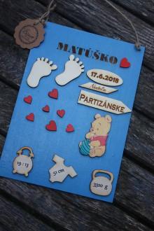 Detské doplnky - Pamiatková tabuľka - narodenie - 9756567_