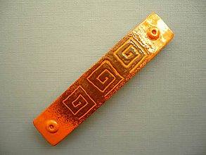 Ozdoby do vlasov - Oranžové řecké spirály - spona do vlasů - 9754731_
