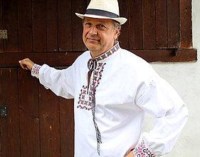Oblečenie - Pánska folk košeľa IV - 9755477_