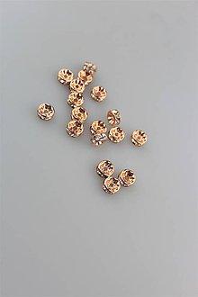 Galantéria - štrasová korálka rondelka 7mm