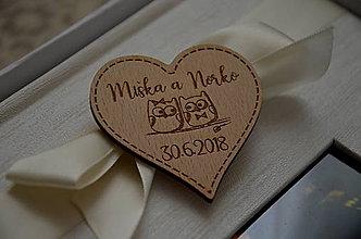 Darčeky pre svadobčanov - Darček pre svadobných hostí - magnetka - Srdiečko - 9754300_