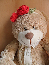 Ozdoby do vlasov - čelenka s dvoma ružičkami - 9756736_