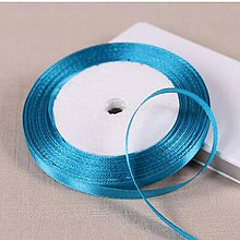 Galantéria - saténová stuha modrá-vyber si variant - 9755476_