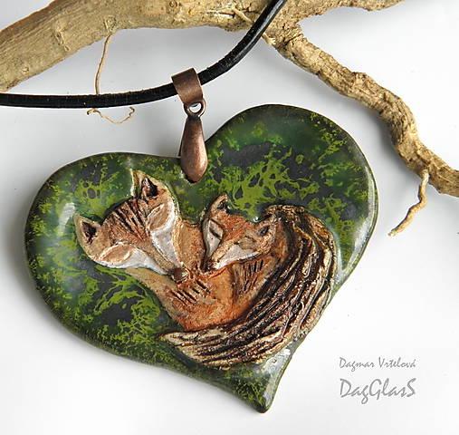 Keramický šperk - Neha v divočine...II.
