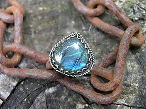 Prstene - Strieborny prsteň Ag925 Labradorit - 9755583_