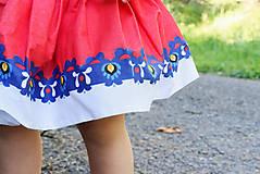 Detské oblečenie - Detská pružná sukňa červená s bordúrou - 9757089_