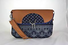 - modrotlačová kabelka a batoh v jednom Daria hnedá 3 - 9753838_