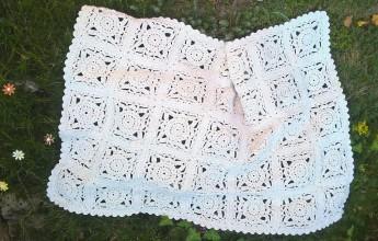 Úžitkový textil - Háčkovaná deka pre bábätko - 9754555_