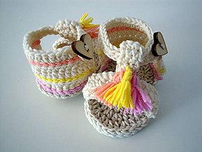 Topánočky - Strapcové capačky - 9757916_