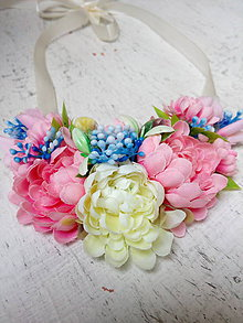 Náhrdelníky - Náhrdelník z kvetov - 9757282_