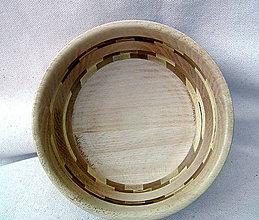 Nádoby - drevená miska... - 9759257_